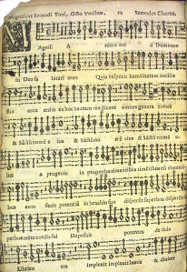 Unknown music print, pasted in front of incunable