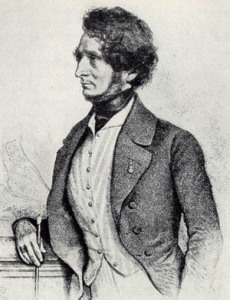 1845 portrait of Berlioz by August Prinzhofer (public domain)