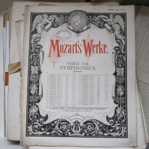 Score and parts of Mozart Symphony no. 39 in E Flat, K.543 from the CUMS library. MRS.25.271