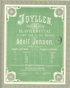 """Title page of Jensen's """"Idylls for piano"""" op.43 [MR340.a.80.62]"""
